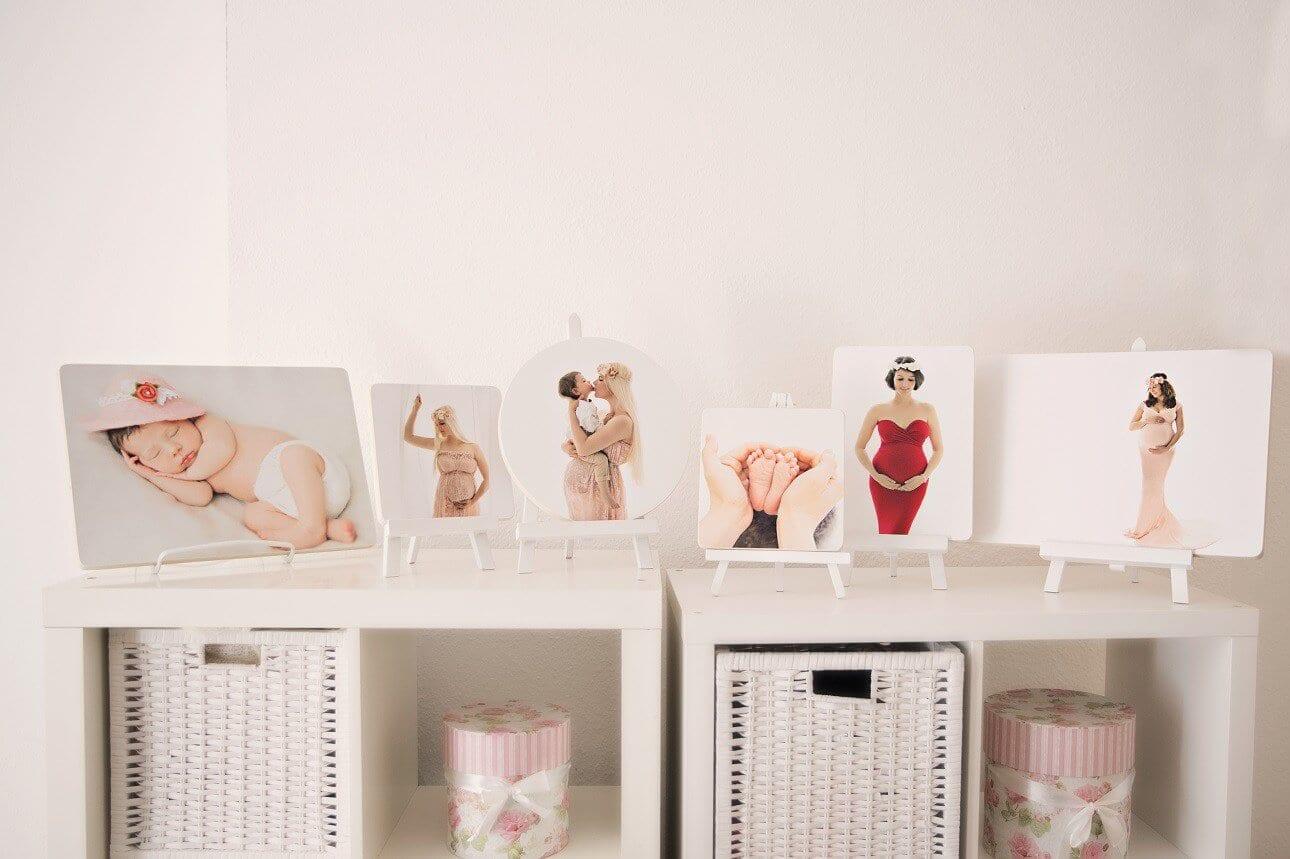 Bilder eines Fotoshootings bei Carmen Bergmann auf Holz gedruckt