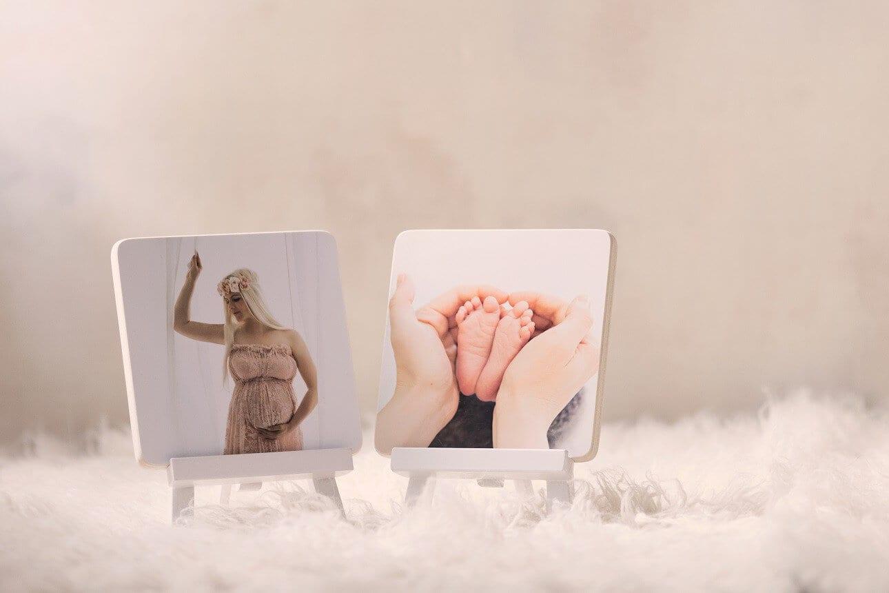 Holz gedrucktes Bild Schwangerschaft Geschenk