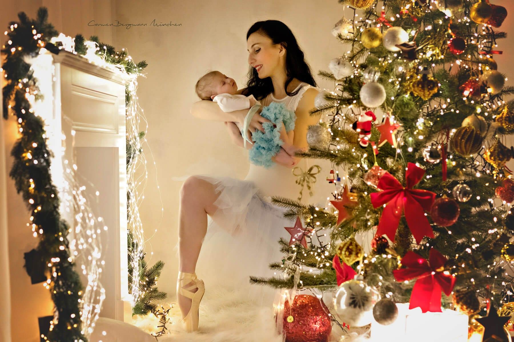 Weihnachten Fotoshooting in Muenchen