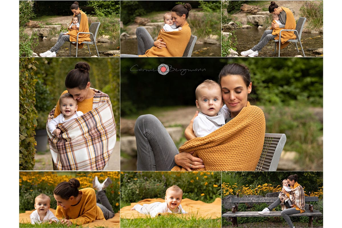 Familie Fotoshooting Muenchen im Herbst