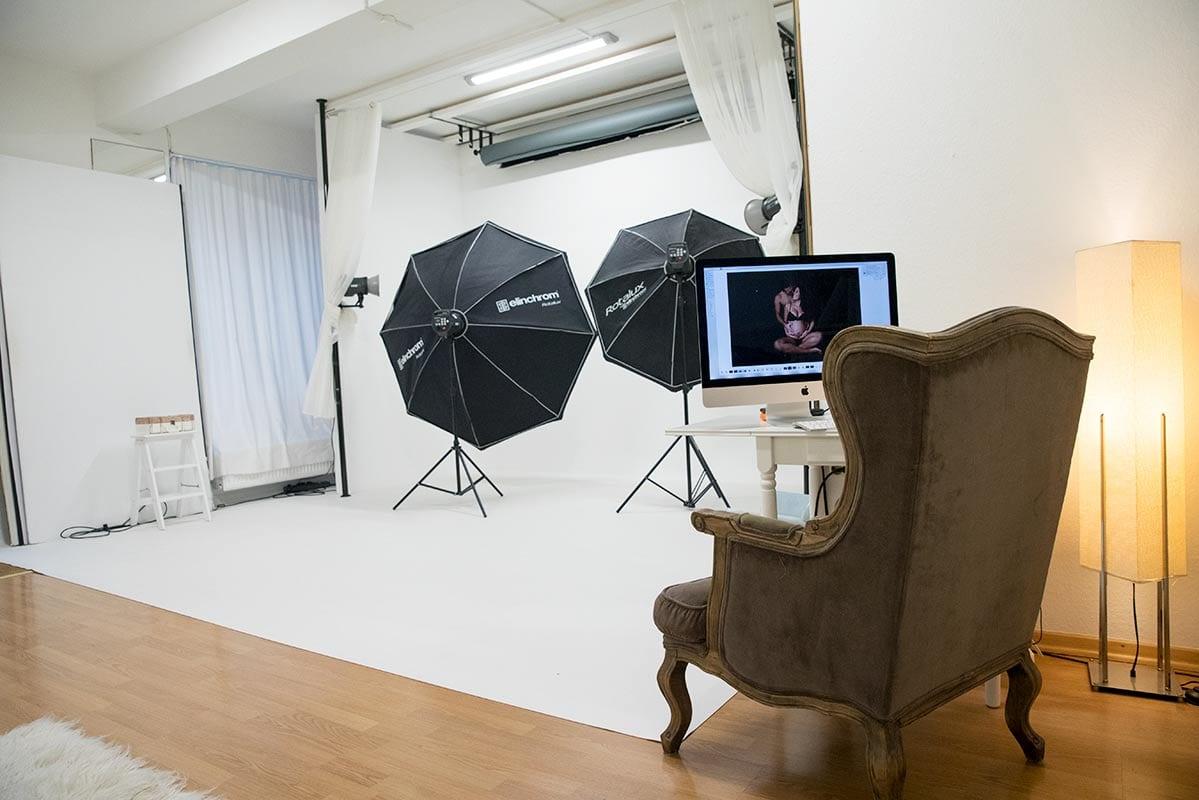 Bergmann Fotostudio Babybauch Shooting Muenchen