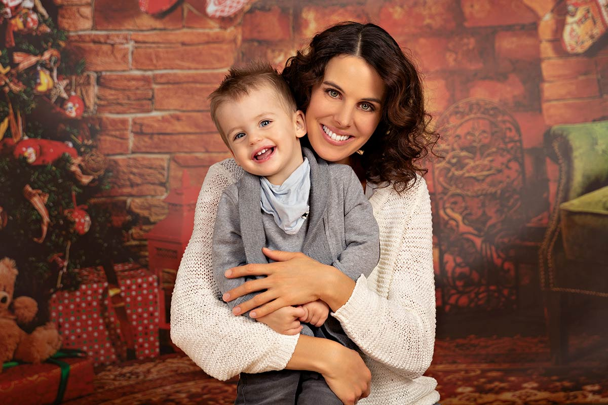 weihnachts fotoshooting familie