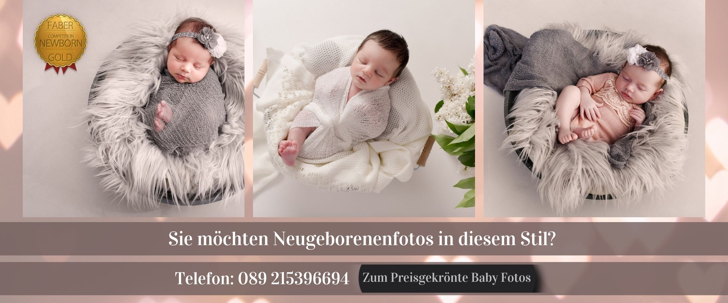 Preisgekrönte Neugeborenen Fotos Cross-Selling banner