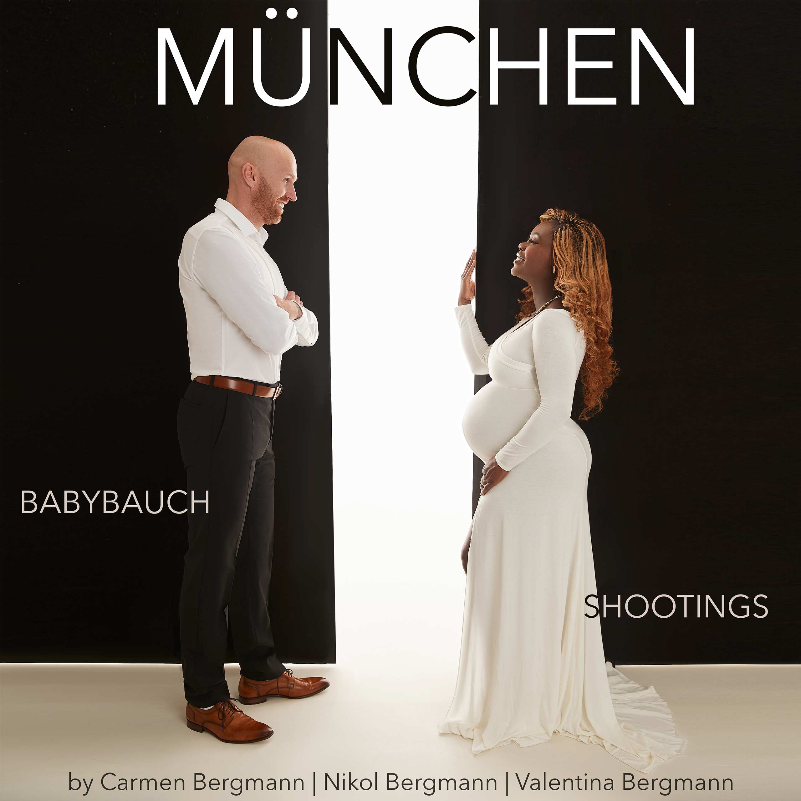 babybauch fotoshooting Muenchen Bergmann